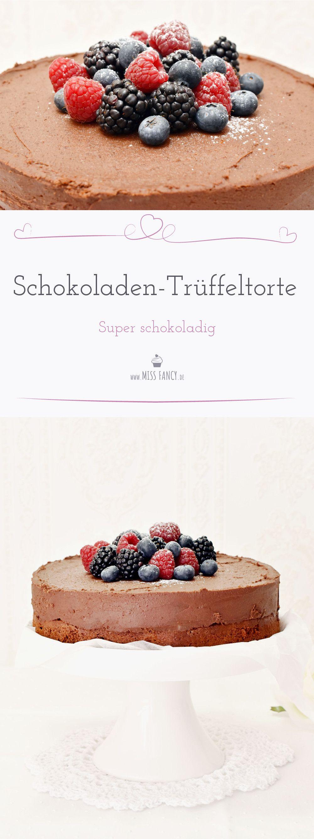 Für alle Schokoladenjunkies Schoko Rumtrüffel Torte