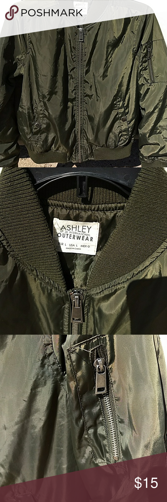 Ashley Outerwear Womens Green Large Jacket Clothes Design Outerwear Jackets [ 1740 x 580 Pixel ]