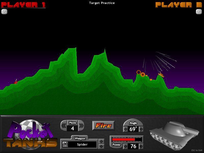 Official Pocket Tanks Website Artillery Game Blitwise
