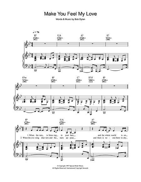 Make You Feel My Love Digital Sheet Music Sheet Music My Love