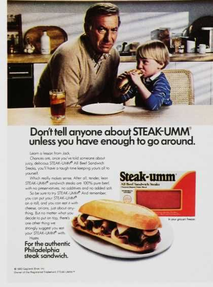 i remember when there was a window on the box like in the picture box says contains 7 steaks but directions say use 2 steaks per sandwich