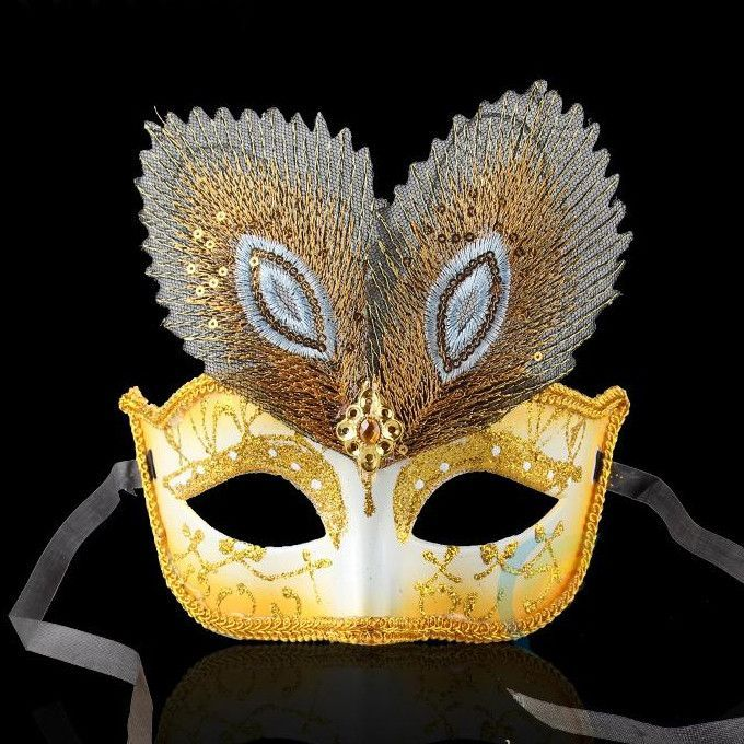 Venice Peacock Color Feather Mask Half Face Masquerade Party Women Princess Mask Halloween Cosplay Performance Props 20pcs SD417  $186.97  https://goo.gl/Vjh0Ki  http://hespirides.com  #me #nice #stylish #need #whatstrending
