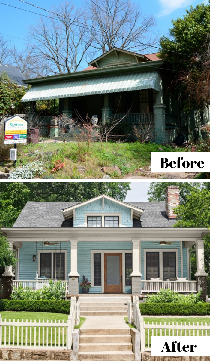 Before And After 1920 Bungalow Remodel With Beautiful Built Ins