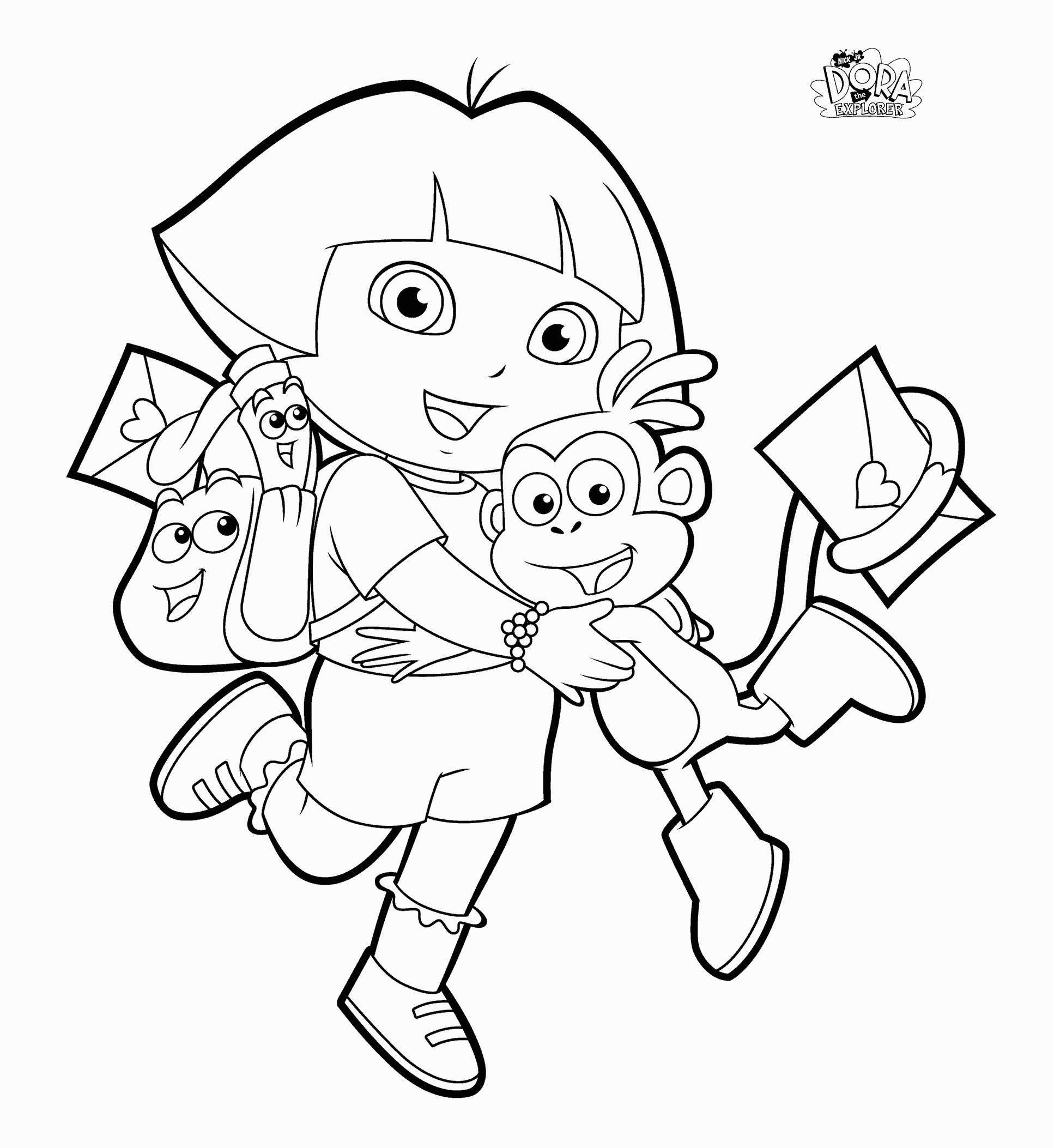 Backpack Coloring Page Coloring Pages Dora Coloring Pages Backpack Boots Swiper Print For