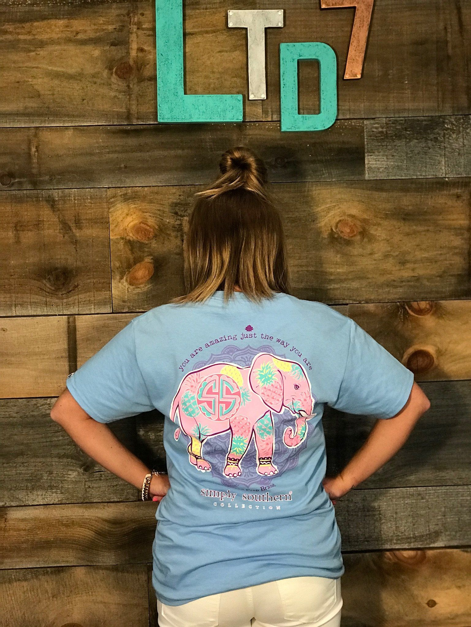 fe9cd9354cb77 Simply Southern Preppy Collection Amazing Elephant T-shirt ...
