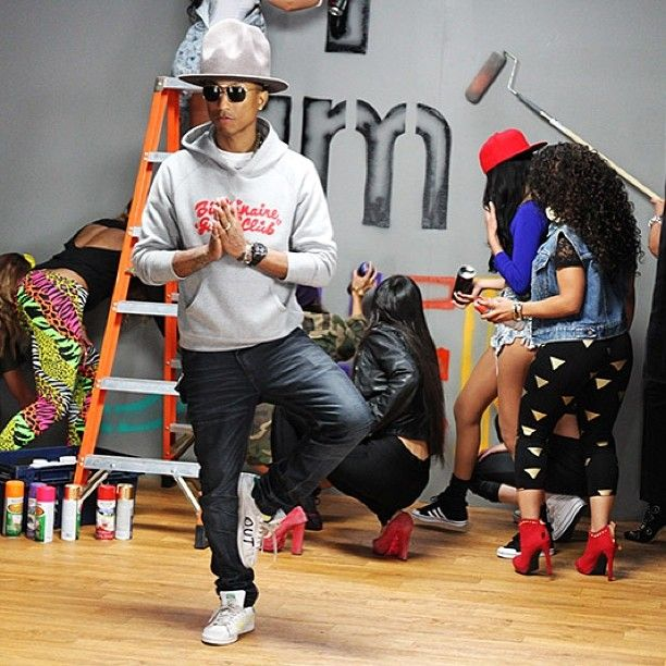 Pharrell in the adidas Originals Stan Smith