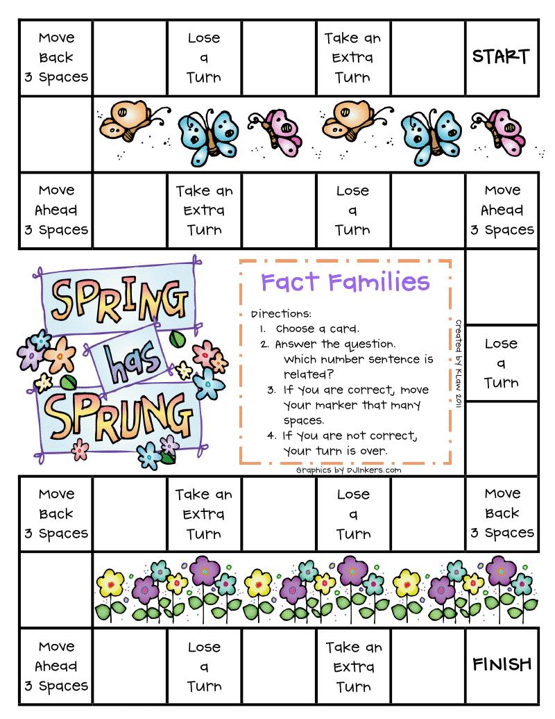 First Grade A La Carte Fact Families Teaching Pinterest