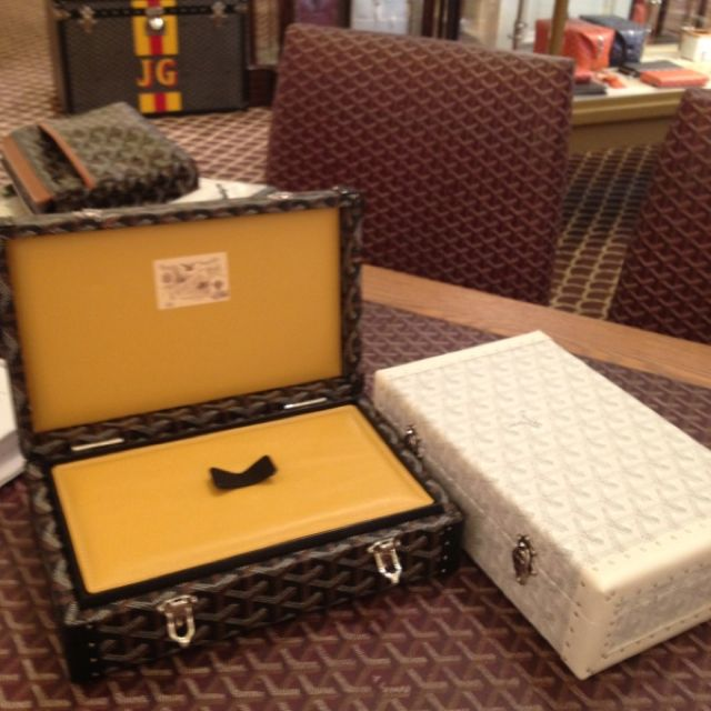 Goyard jewelry boxes to fill with Faraone Mennella and Amedeo