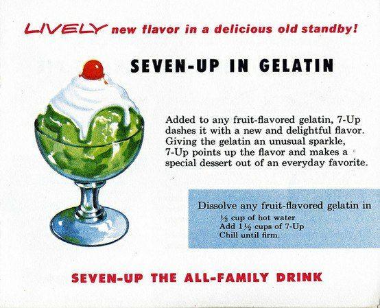 Seven-Up in Gelatin - Sparkly