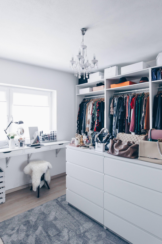 so habe ich mein ankleidezimmer eingerichtet und gestaltet ankleidezimmer wardrobe. Black Bedroom Furniture Sets. Home Design Ideas