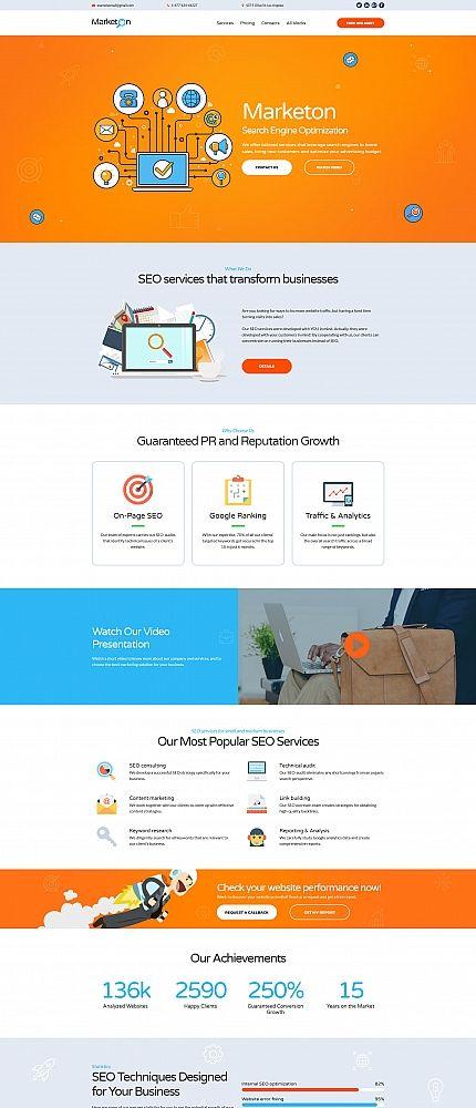 SEO Landing Page Template Landing Page Templates Pinterest - Seo landing page template