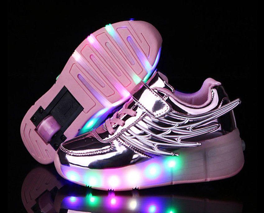 hot sale online 64c83 f7b10 Kids Wheel Roller Skate Shoes, Boys Girls LED Light Up Shoes PINK - USA  seller !  WheelRollerSkateShoes  WheelRollerSkateShoes