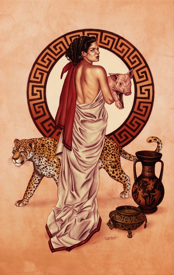 Circe color print by *LostonWallace on deviantART lostonwallace.deviantart.com/