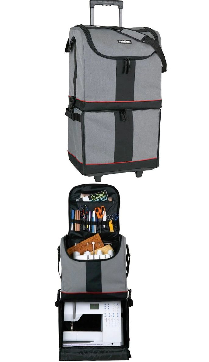 Scrapbooking Totes 146401: Rolling Upright Arts And Crafts Tote Bag Express  Sewing Machine Storage Travel