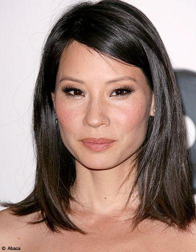 Lucy Liu hair Coupe de cheveux asiatique, Cheveux