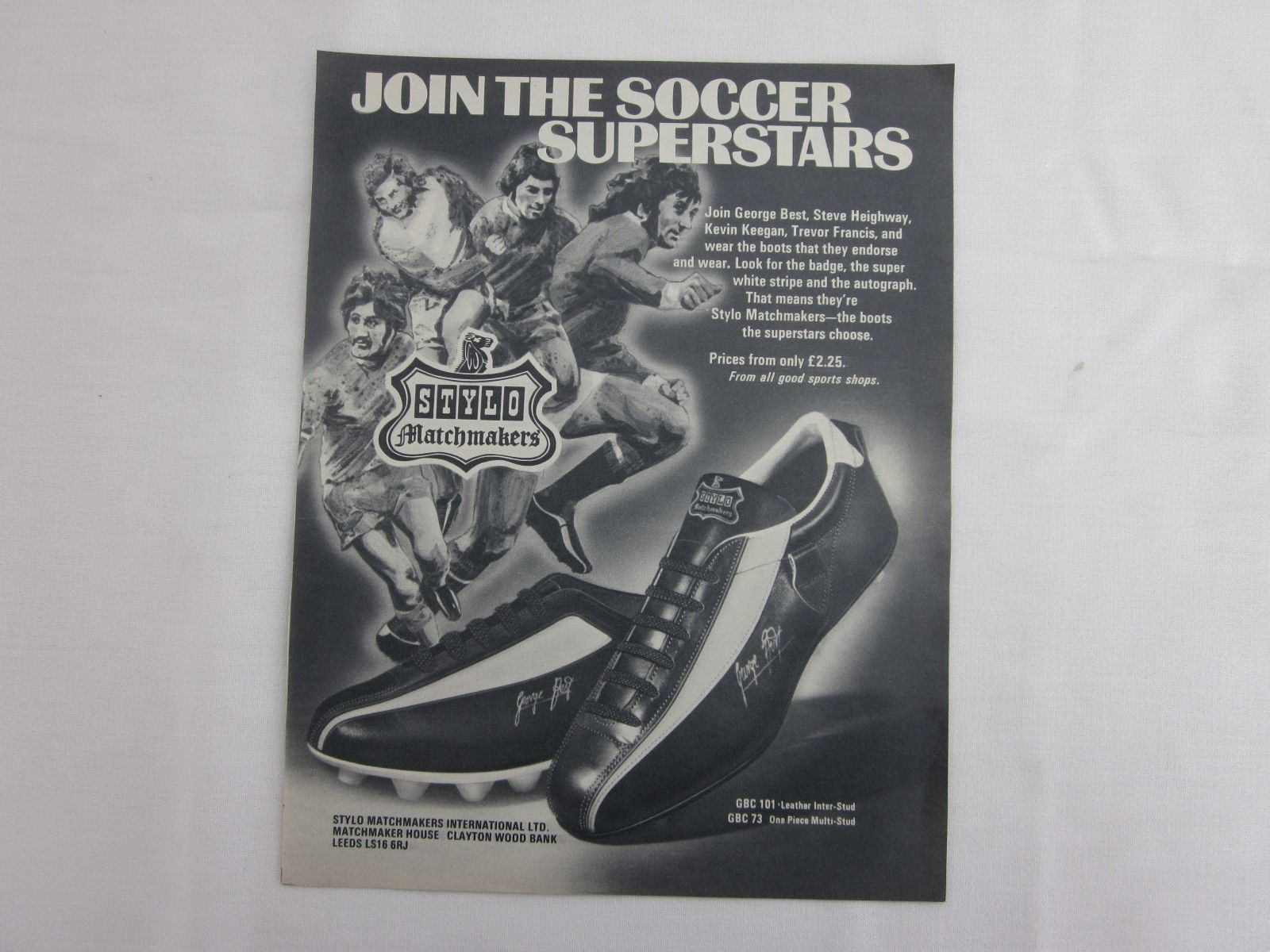GEORGE BEST Manchester United STYLO Matchmakers Boots