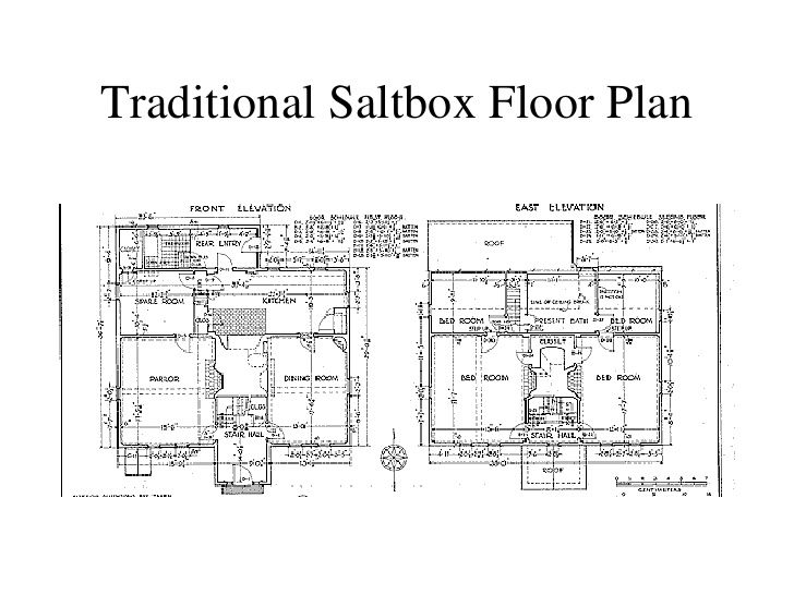 Traditional Saltbox Floor Plan ... | CHH FLOOR PLAN COLONIAL ...