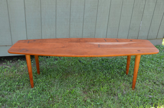 Solid Cherry Mid Century Modern Coffee by donyacovella on Etsy