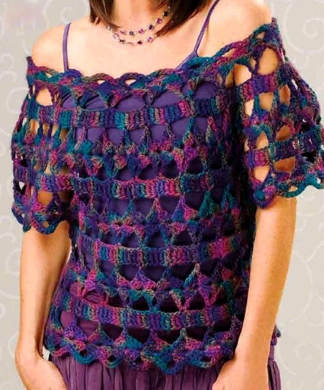 beautiful blouse easy and simple to crochet   crochet   Pinterest ...