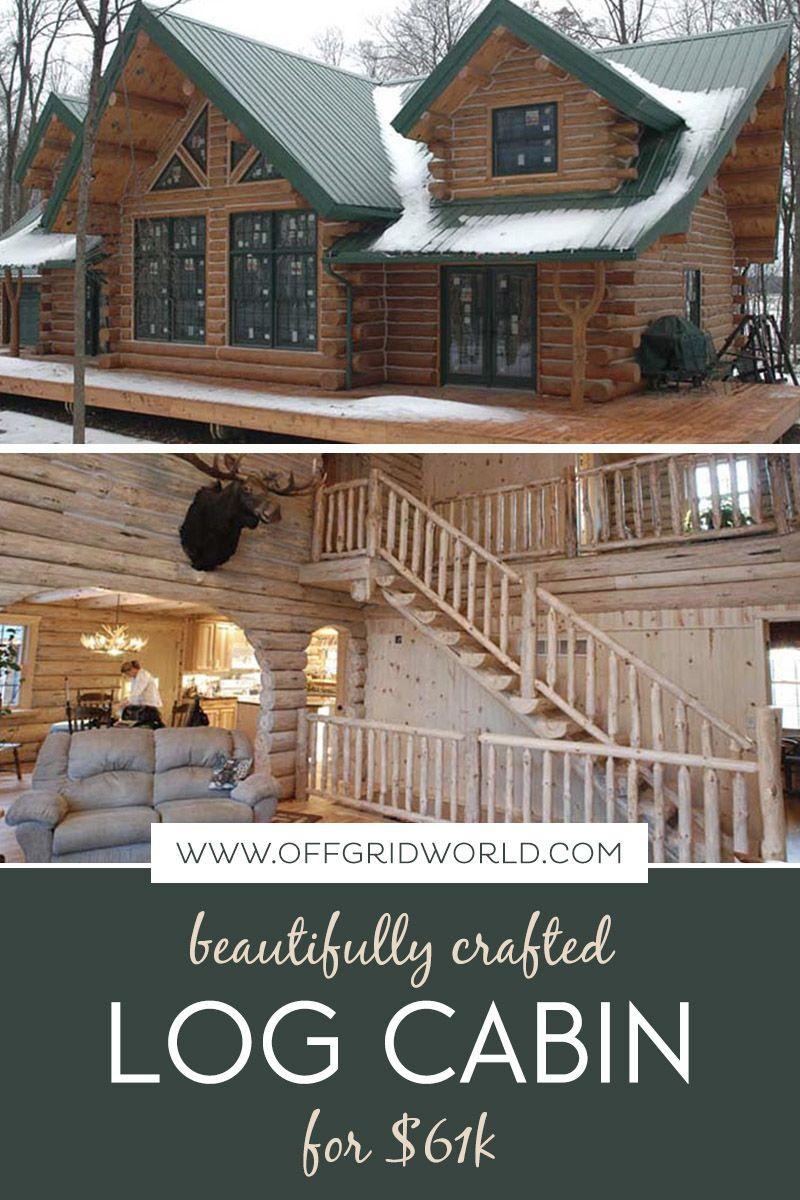 Beautiful Log Cabin For 61k Off Grid World Log Cabin Rustic Log Cabin Homes Cabin House Plans