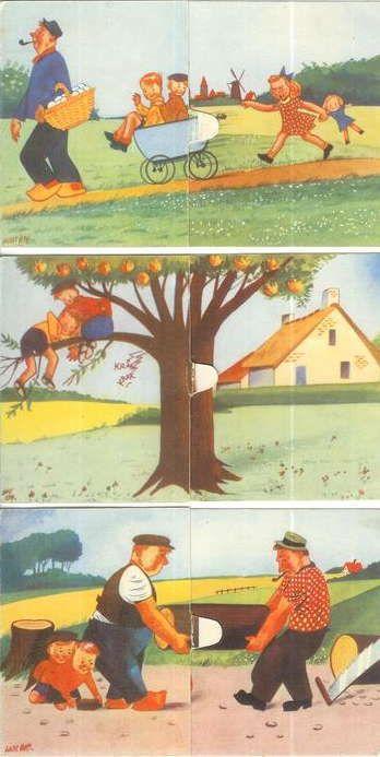 Kinderkaarten : Joop en Jaap - De lotgevallen van Joop en Jaap