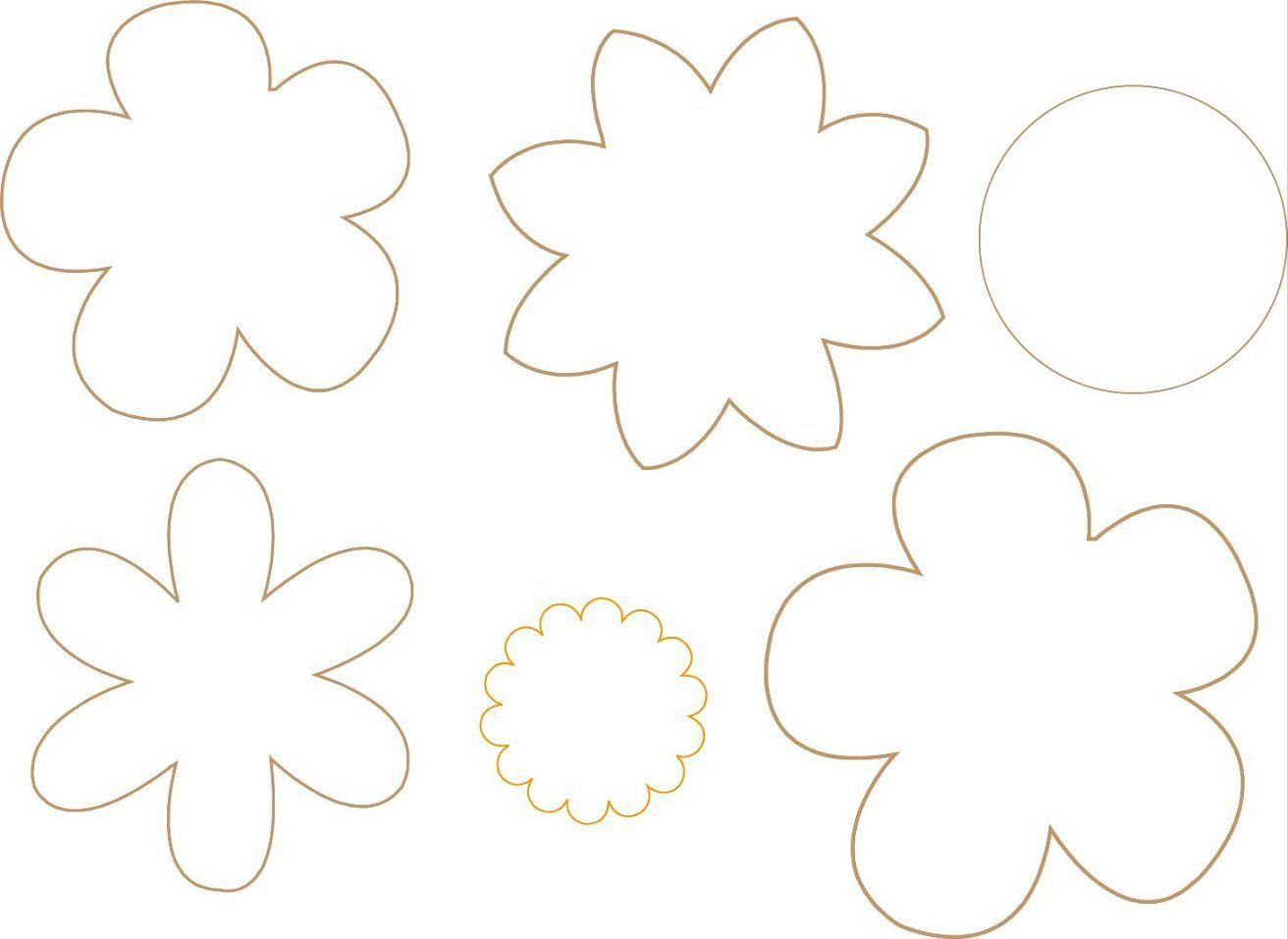 Moldes De Flores Buscar Con Google Moldes Pinterest Molde