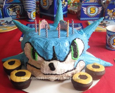 Homemade Sonic The Hedgehog Cake For This Th