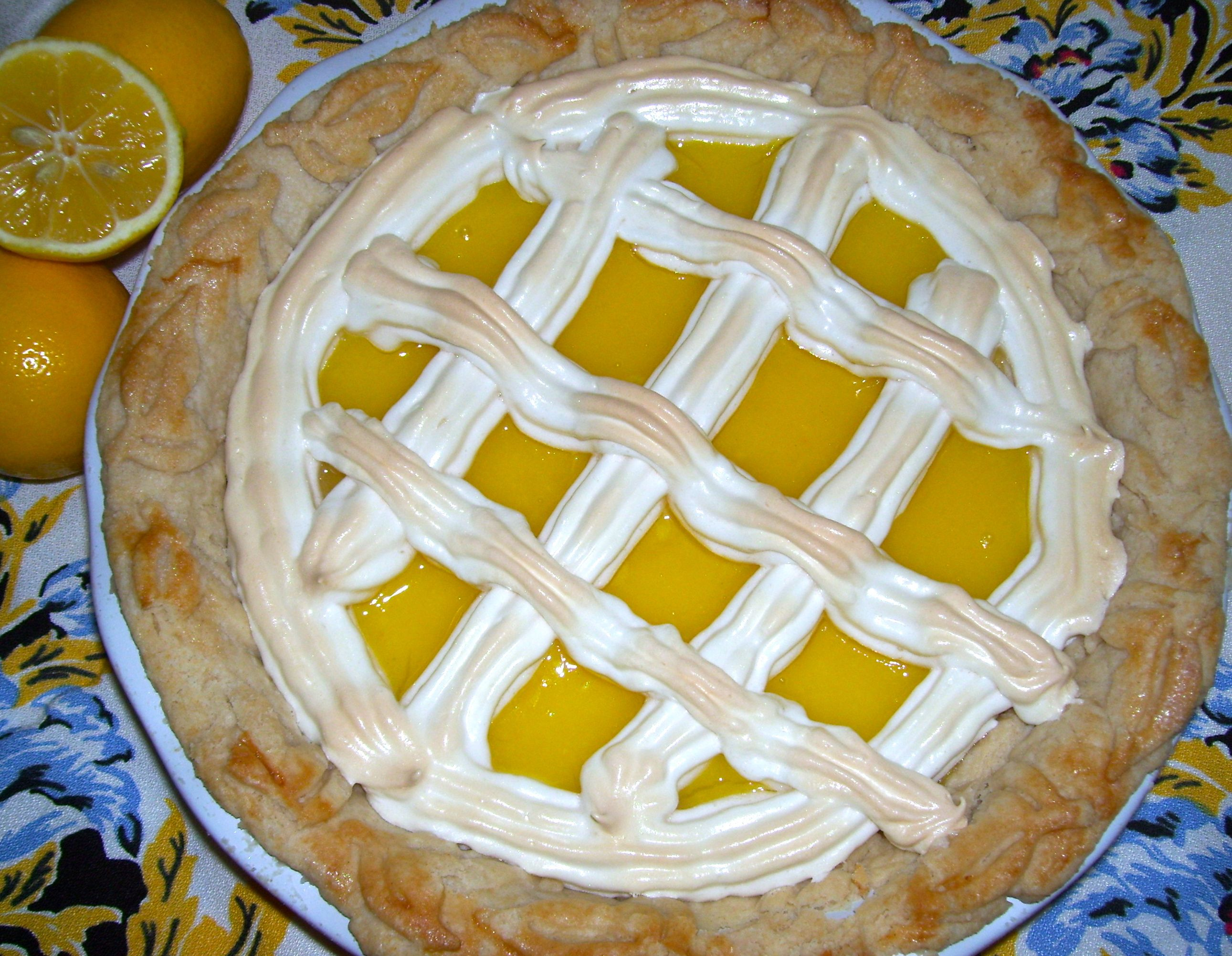 Meyer Lemon Lattice Pie