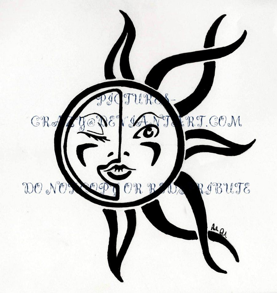 Tribal Moon Tattoo Designs Sun and moon tribal tattoo by