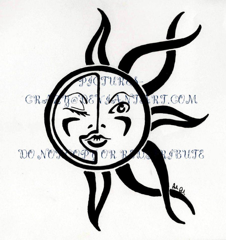 Sunrise tribal tattoo designs tribal sun - Tribal Moon Tattoo Designs Sun And Moon Tribal Tattoo By