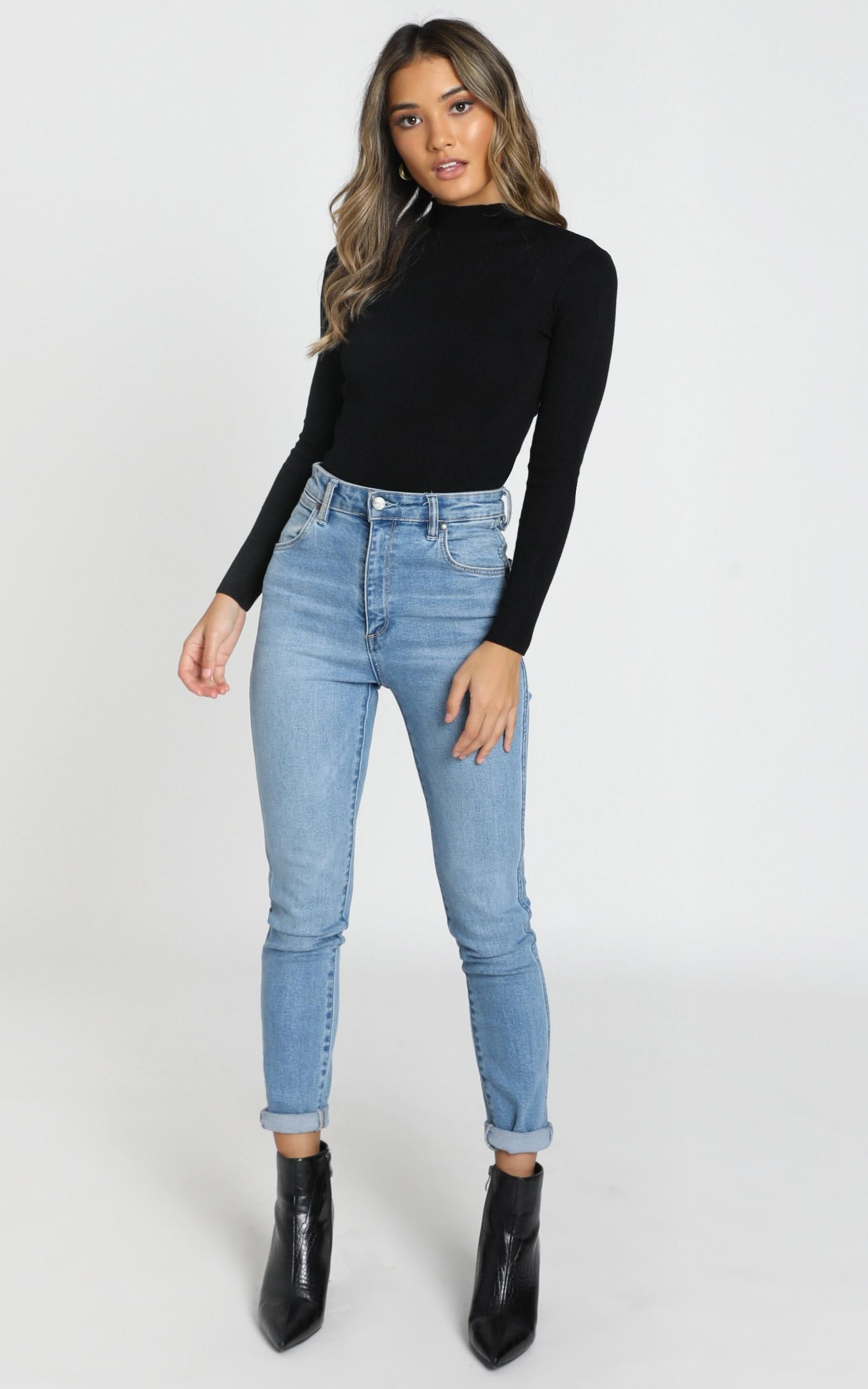 Lust For Life Knit Top in Black