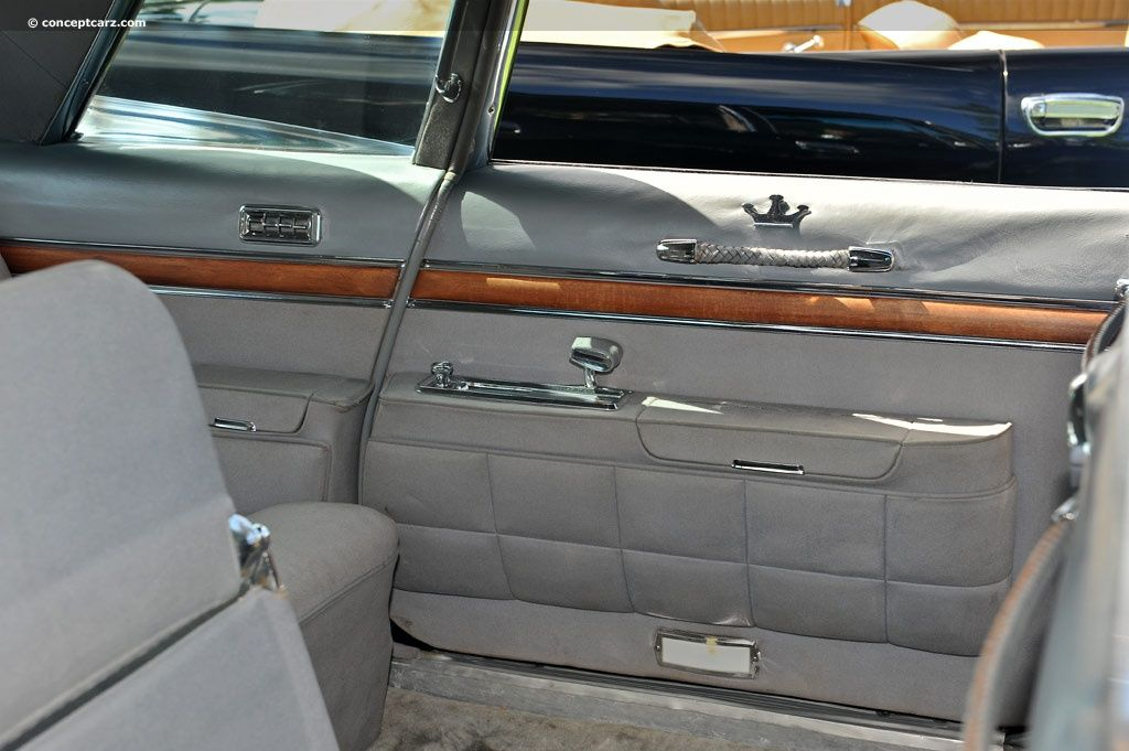 Interior Of A 1958 Chrysler Imperial Limousine Quite Spacious And