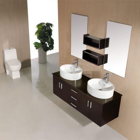 Meubles salle de bain DIS747N Noir Sims - salle de bain meuble noir