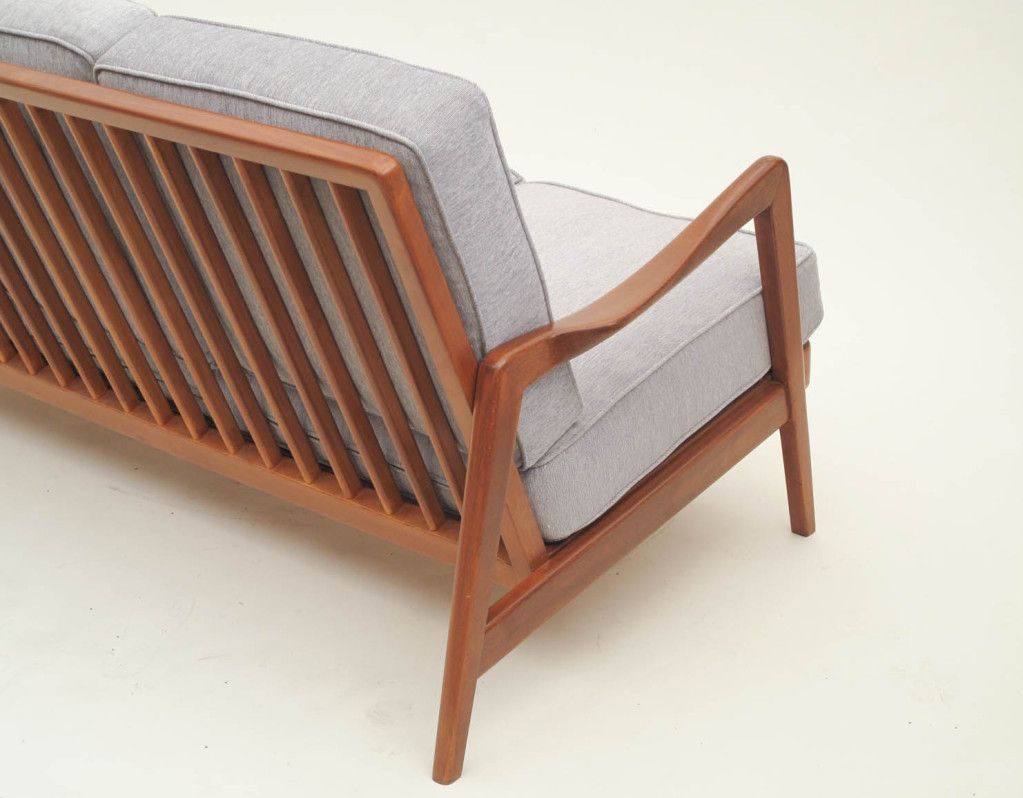 Dux Mid Century Scandinavian Design Wood Frame Sofa 1960s From A Unique Collection Of
