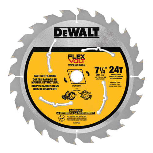 Dewalt Dwafv3724 Flexvolt Trade Small Diameter Circular Saw Blade 7 1 4 Table Saw Blades Circular Saw Blades Saw Blade