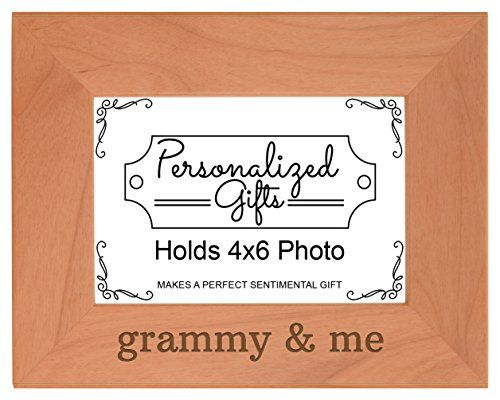 Grandma Gift Grammy and Me Grandchild Natural Wood Engraved 4x6 ...