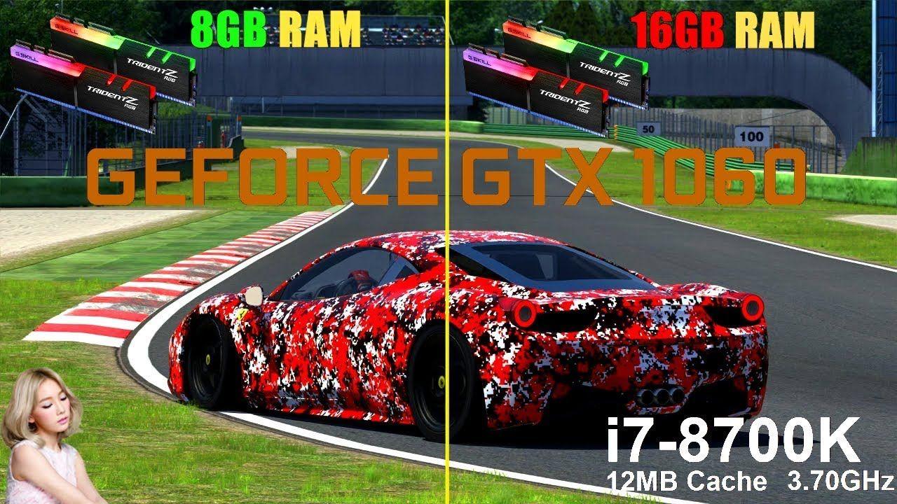 Assetto Corsa 8GB vs 16GB | GTX 1060 6GB [ i7 8700k
