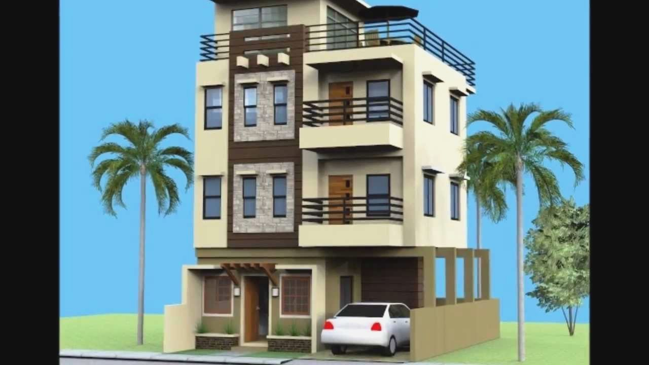 Story House Plans Roof Deck Type Designs Small 3 Storey House Design 3 Storey House Affordable House Design