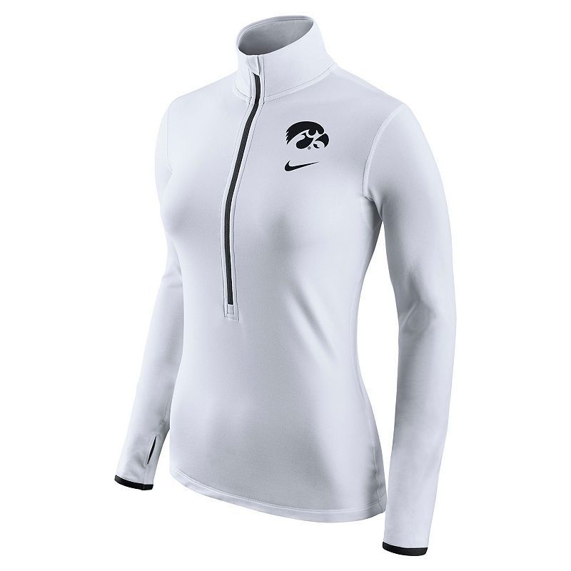 Women's Nike Iowa Hawkeyes Pro Hyperwarm Pullover, Size: Medium, White