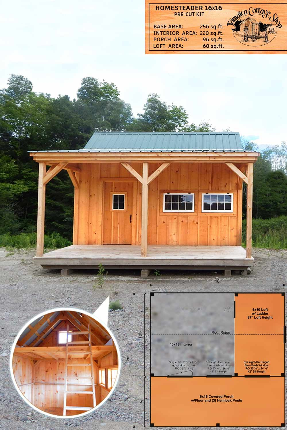 The Wonderful Multipurpose 16 X16 Homesteader In 2020 Hunting Cabin Tiny House Design Tiny House Nation