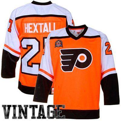 Mens Philadelphia Flyers Ron Hextall Mitchell Ness Orange Throwback Authentic Vintage Jersey Vintage Jerseys Jersey Philadelphia Flyers