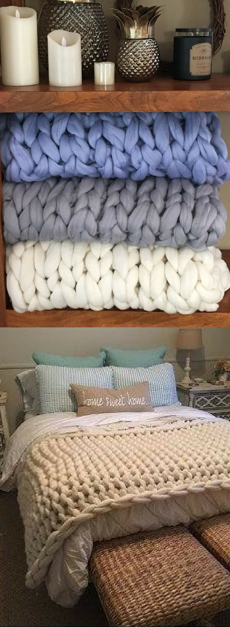 40 off super chunky knit merino wool throw blanket merino wool