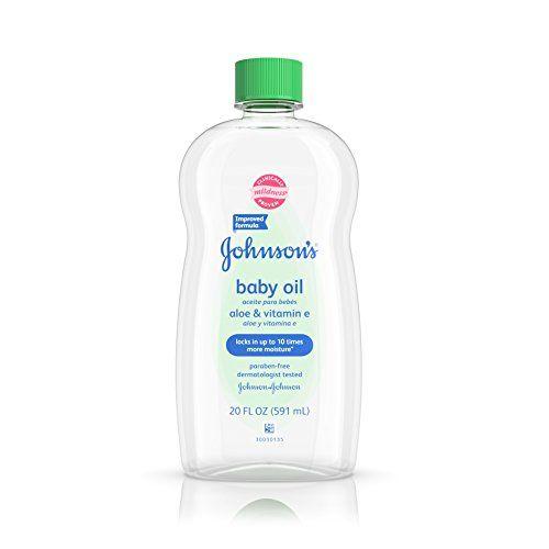Johnson S Baby Oil With Aloe Vera Amp Vitamin E For Dry Skin 20 Oz Johnson Baby Oil Baby Oil Aloe Vera Vitamin