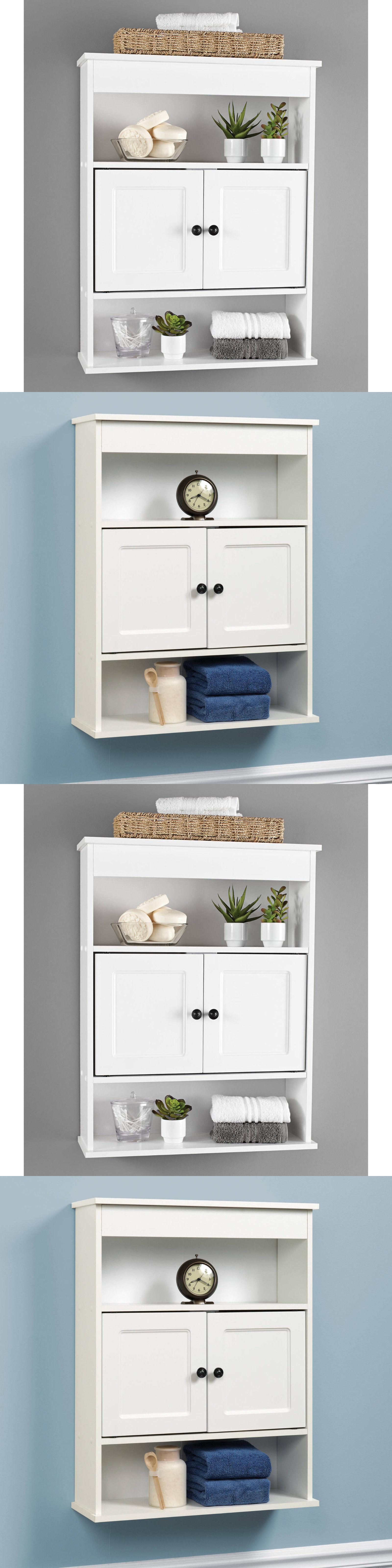 Bath Cad s and Storage Bathroom Wall Storage Cabinet White