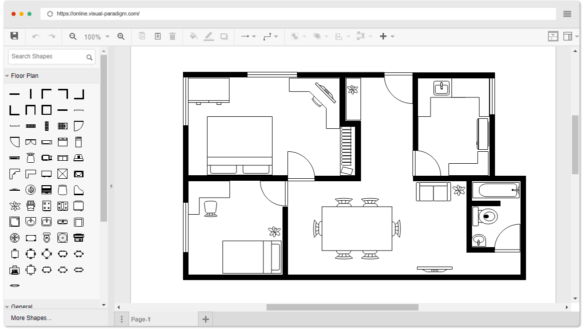 Online Floor Plan Designer Floor Plan Creator Free Floor Plans Simple Floor Plans