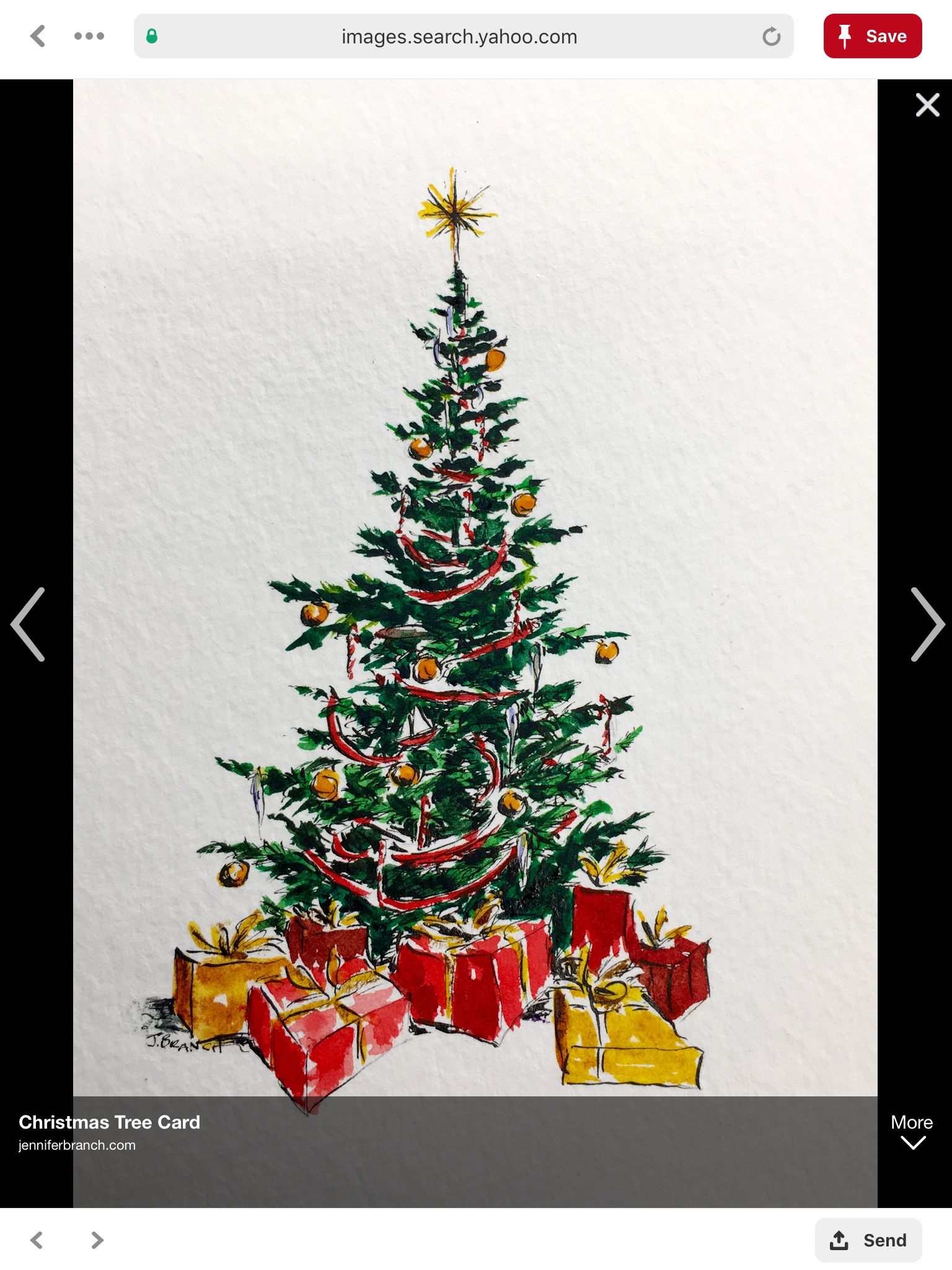 Singing Christmas Tree 2019.Pin By Shann On Watercolor Cards In 2019 Christmas Tree