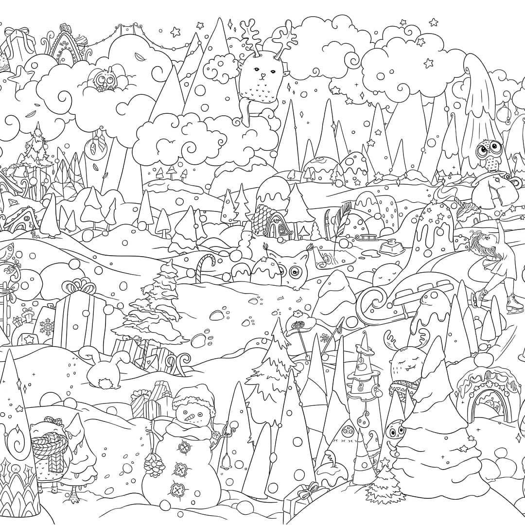 Winter Coloring Page Christmas Coloring Poster Coloring Pages Winter Christmas Coloring Books Coloring Pages