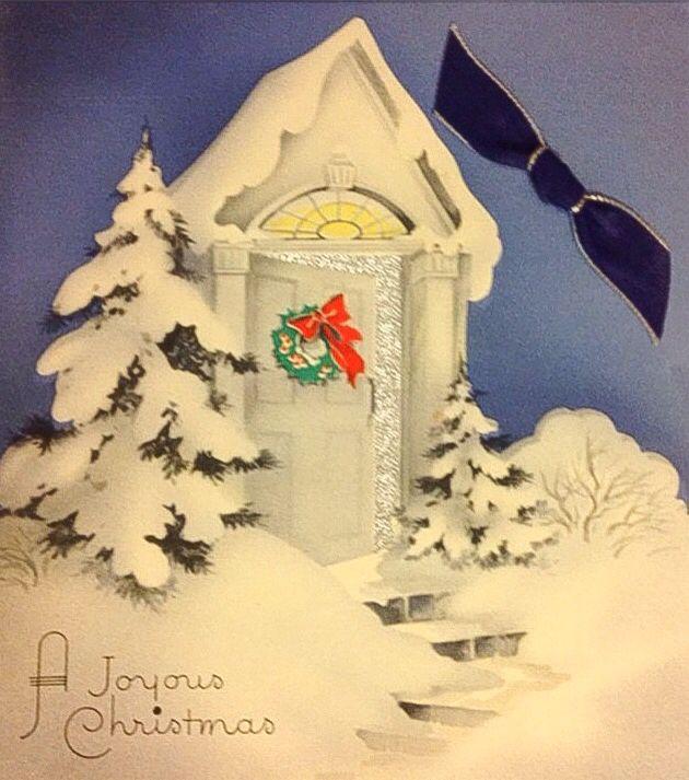 joyous christmas crib card
