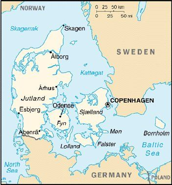Map of Denmark Maps Maps I love Maps in 2018