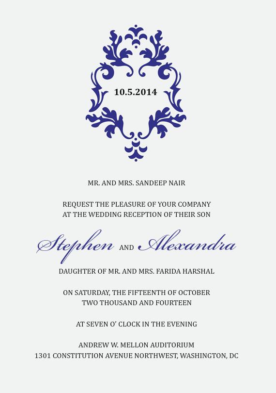 Formal Frame Invitations in Blue